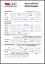 Formulario de afiliación
