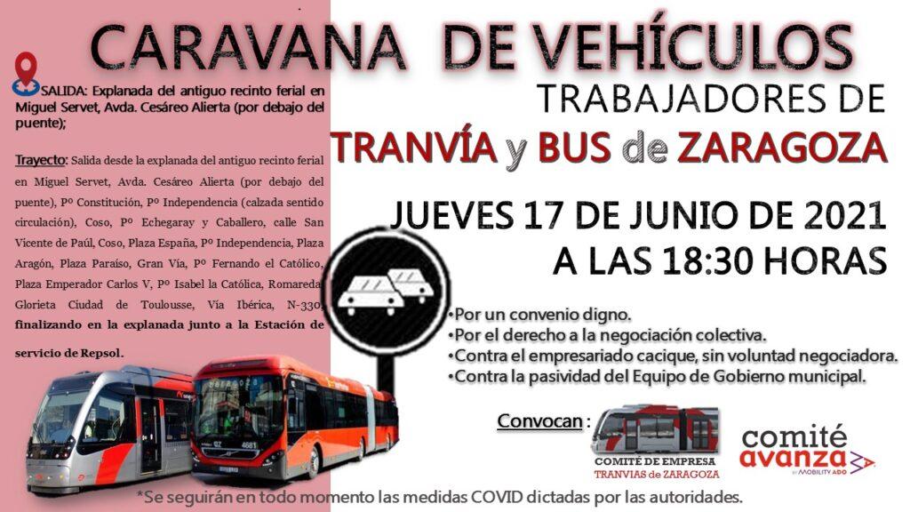 Manifestación - caravana de vehículos